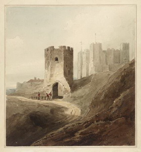 Pencil and watercolour on paper Dover Castle