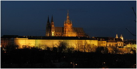 Prague Castle By Night